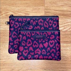 Cheetah Print 2 Pack Travel Cosmetic Bags